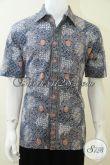 Baju Batik Warna Biru Motif Klasik Sekar Jagad, Bagus, Keren, Eksklusif, Untuk Kerja Kantor [LD2040CT-L]