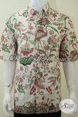 Hem Baju Batik Laki-Laki Ukuran XL Bagus Motif Burung Bangau / Kuntul [LD2105BT-XL]