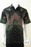 Baju Batik Laki-Laki Warna Hijau Kalem, Lengan Pendek Segala Suasana [LD2293T-L]
