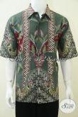 Baju Batik Unik Modern Laki-Laki Lengan Pendek Warna Hijau [LD2320T-XL]