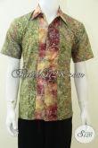 Baju Batik Remaja Pria, Motif Modern, Warna Hijau Keren [LD2331CS-M]