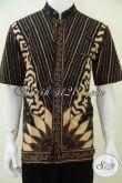 Baju Batik Elegan Pria, Kerah Shanghai Koko, Model Terbaru, Cocok Untuk Kondangan Resmi Dan Santai [LD2383TSK-L]