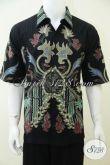 Batik Solo Klasik Modern Model Hem Untuk Pria Sejati, Baju Batik Kwalitas Bagus Mewah Berkelas Harga Murah [LD2455T-XL]