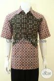 Toko Online Batik Solo Kwalitas Bagus Harga Murah, Baju Batik Kerja Cowok Lengan Pendek Motif Paling Keren [LD3573CT-L]