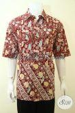 Baju Batik Cap Ukuran Jumbo Khusus Pria Gemuk, Hem Batik Trendy Ukuran Besar Harga Tetap Terjangkau [LD3597C-XXL]