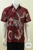 Baju Batik Modern Warna Merah Marun Untuk Laki-Laki Remaja Dewasa [LD3737T-M]
