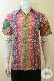Distro Pakaian Batik Cowok Jual Hem Batik Desain Motif Terbaru 2020, Baju Batik Lengan Pendek Cap Tulis Cocok Untuk Gaul Dan Bekerja [LD3902CT-M]