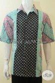 Hem Batik Modern Motif Terbaru Dengan Tiga Warna Trendy, Pakaian Batik Remaja Pria Tampil Modis Dan Gaul, Batik Santai Yang Cocok Untuk Seragam Kerja [LD3933C-XL]