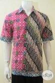 Kemeja Batik Klasik Parang Kombinasi Motif Modern, Baju Batik Unik Dual Motif Proses CAp Tulis Lebih Halus Dan Adem [LD4150CT-L]
