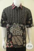Busana Batik Lelaki Dewasa Kwalitas Premium, Baju Batik Tulis Lengan Pendek Full Furing Ukuran XL, Pas Banget Untuk Acara Formal [LD4471TF-XL]