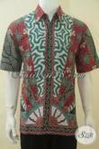 Hem Batik Mewah Harga Murah, Baju Kerja Batik Desain Formal Cocok Juga Untuk Kondangan, Busana Batik Print Kwalitas Halus Tampil Berwibawa [LD4526P-L]