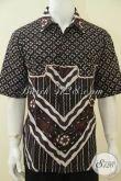 Baju Batik Kwalitas Premium Dengan Kombinasi Dua Motif Klasik Berkelas, Baju Hem Batik Lengan Pendek Tulis Tangan Berbahan Halus Dan Adem [LD4674T-XL]