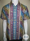 Batik Kerja Pria Warna Soft Kalem Elegan, Batik Karyawan Kantor [LD564CTC-M]