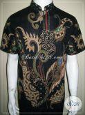 Kemeja Batik Pria Kerah Shanghai, Batik Tulis Elegan Modern [LD569T-M]