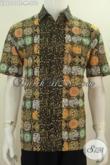 Jual Busana Batik Motif Unik Trend Terkini, Pakaian Batik Cap Tulis Lengan Pendek Tidak Pakai Furing Bisa Untuk Seragam Kerja Dan Baju Santai [LD6099CT-M]