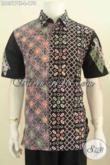 Produk Busana Batik Modern Khas Solo Untuk Lelaki Muda Dan Dewasa, Hem Batik Halus Proses Cap Tulis Lengan Pendek Cocok Juga Buat Hangout [LD6517CT-L]