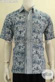 Jual Kemeja Batik Cowok Dengan Desain Trendy Dan Berkelas, Kemeja Batik Untuk Kerja Kantoran Berbahan Adem Proses Cap Hanya 150 Ribu [LD6580C-M]