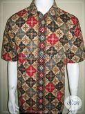 Jual Baju Batik Modern Pria Motif Ceplok, Elegan dan Exclusive, Batik Kantoran [LD669CT-XL]