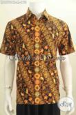 Kemeja Batik Parang Bunga, Hem Batik Halus Lengan Pendek Proses Cap Tulis Bahan Adem Yang Nyaman Di Pakai Tiap Hari [LD6701CT-M]