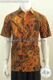 Hem Batik Lengan Pendek Modis Dan Halus, Baju Batik Istimewa Proses Kombinasi Tulis Motif terkini Yang Bikin Cowok Terlihat Macho Dan Jantan [LD6825BT-M]