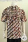 Baju Batik Klasik Untuk Pria Dewasa, Hem Batik Printing Motif Parang Truntum Bahan Adem Nyaman Dan ELegan Untuk Kerja Kantoran [LD6922P-XXL]