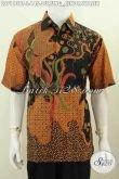 Produk Batik Modern Klasik Dengan Motif Burung Cendrawasih, Busana Batik Lengan Pendek Trendy Kombinasi Tulis Pas Buat Kerja Dan Santai [LD7113BT-L]