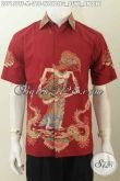 Hem Batik Pria Motif Wayang Dewi Sri a.k.a Dewi Padi, Baju Batik Santai Desain Formal Proses Tulis, Bisa Buat Kerja Dan Hangout [LD7157TF-M]