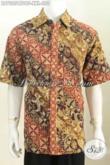 Kemeja Batik Jumbo, Pakaian Batik Pria Gemuk Bahan Kain Dolby Motif Mewah Cap Tulis Daleman Full Furing Hanya 280K [LD7205CTDBF-XXL]