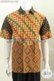 Hem Batik Bagus Murah Motif Elegan Dan Mewah, Baju Batik Printing Lengan Pendek Buatan Solo Yang Membuat Pria Terlihat Macho [LD7259P-L]