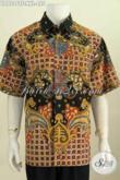 Baju Batik Premium Untuk Pria Gemuk, Pakaian Batik Full Furing Mewah Motif Klasik Proses Tulis Di Jual Online 455K [LD7506TF-XXL]