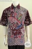 Agen Baju Batik Mewah Terpercaya, Sedia Kemeja Jumbo Size XXL Untuk Pria Gemuk Bahan Halus Proses Tulis Lengan Pendek Harga 455 Ribu [LD7507TF-XXL]