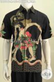 Baju Batik Kerja Keren, Pakaian Batik Yang Bikin Penampilan Lebih Tampan, Berbahan Halus Proses Tulis Motif Bima Model Lengan Pendek [LD7519T-M]