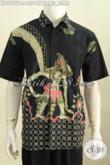 Hem Batik Motif Wayang Bima, Baju Batik Kekinian Proses Tulis Harga 100 Ribuan Yang Bikin Pria Terlihat Berwibawa [LD7575T-L]
