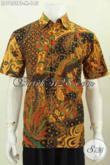 Baju Batik Jawa Halus Cocok Buat Seragam Kerja, Hem Batik Lengan Pendek Kombinasi Tulis Tampil Gagah Dan Menawan [LD7653BT-M]
