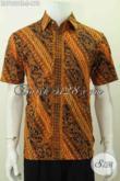 Batik Hem Klasik Elegan Proses Cap Tulis, Baju Kerja Batik Lengan Pendek Halus Untuk Penampilan Lebih Sempurna [LD7669CT-S]