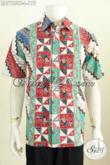 Baju Kemeja Lengan Pendek Bahan Batik Cap Tulis Motif Parang, Hem Lengan Pendek Size L Tampil Lebih Gagah [LD7755CT-L]