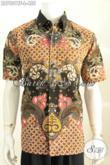 Baju Hem Batik Lengan Pendek Halus Motif Mewah Proses Tulis, Pakaian Batik Full Furing Pria Tampil Makin Percaya Diri [LD7801TF-L]