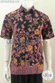 Hem Batik Solo Paling Baru, Koleksi Kemeja Batik Cowok Trend Terkini Motif Bagus Proses Kombinasi Tulis Untuk Penampilan Makin Istimewa [LD7909BT-M]