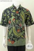 Baju Hem Batik Istimewa, Kemeja Batik Modis Halus Lengan Pendek Seragam Kerja Pria Kantoran [LD7922BT-XL]