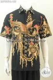 Baju Hem Batik Jawa Tengah, Kemeja Batik Modern Lengan Pendek Motif Terkini Proses Tulis Hanya 155K [LD7929T-L]