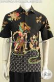 Jual Batik Kemeja Lengan Pendek Motif Wayang Gatotkaca, Baju Batik Halus Proses Tulis Bahan Adem Nyaman Di Pakai [LD7949T-M]