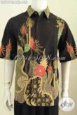 Baju Batik Keren Lengan Pendek, Pakaian Batik Jumbo Untuk Kerja Kantoran Bahan Halus Proses Tulis Harga 155K [LD7974T-XXL]