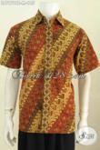 Hem Batik Parang Klasik, Kemeja Batik Cap Tulis Buatan Solo Model Lengan Pendek Untuk Tampil Gagah Dan Bergaya [LD7979CT-M]