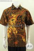 Toko Online Pakaian Batik Paling Komplit, Sedia Hem Batik Seragam Kerja Motif Mewah Kombinasi Tulis Model Lengan Pendek Hanya 145K [LD8092BT-XL]