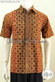 Batik Hem Untuk Seragam Kerja, Kemeja Batik Solo Motif Klasik Nan Elegan Bahan Adem Nyaman Di Pakai Tampil Makin Berkelas [LD8196CTL-M]