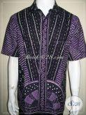 Baju Batik Tulis Pria Lengan Pendek Motif Unik Warna Tidak Cepat Pudar [LD819T-L]