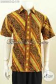 Hem Batik Warna Klasik Motif Bagus Dan Elegan, Kemeja Batik Solo Terbaru Buat Pria Terlihat Berwibawa [LD8232CT-M]