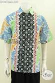 Baju Kemeja Solo Bahan Batik Cap Model Lengan Pendek Motif Terkini Yang Bikin Pria Tampil Keren Dan Mempesona [LD8268C-XL]
