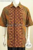 Toko Online Batik, Sedia Baju Batik Kantoran Pria Gemuk Sekali, Hem Batik Lengan Pendek Halus Motif Berkelas Proses Cap Tulis Harga 215K [LD8341CT-XXXL]