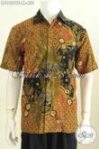Baju Batik Pria Bagus, Kemeja Batik Elegan Dan Mewah Pake Furing Motif Mewah Proses Tulis Model Lengan Pendek [LD8409TF-M]